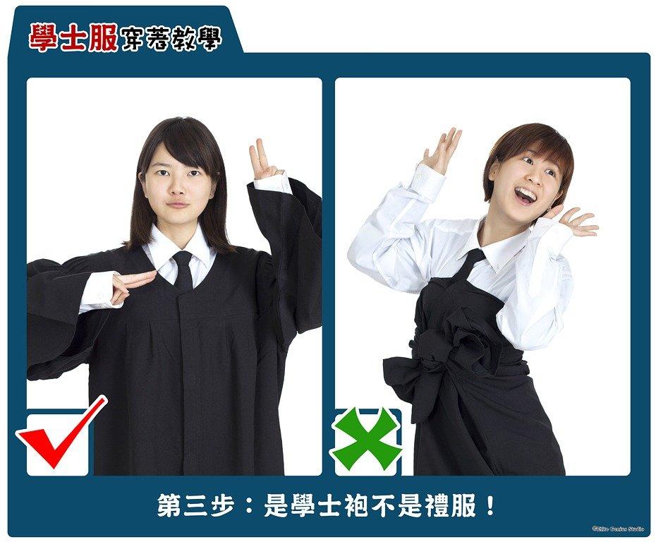 3.穿學士袍
